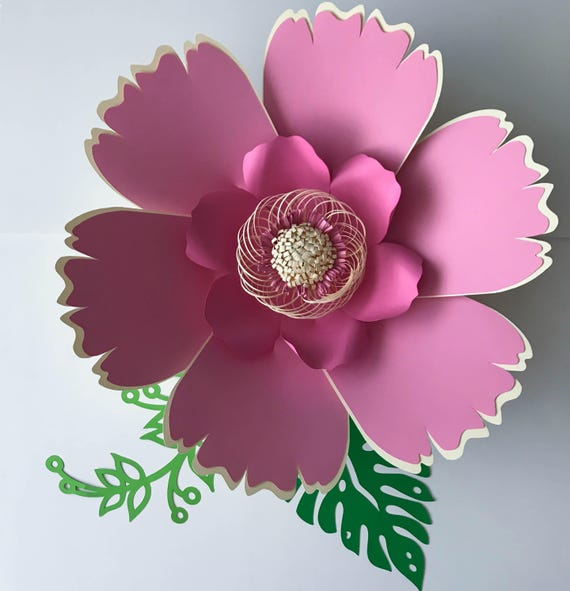Paper flowers svg petal 38 paper flower template digital mightylinksfo