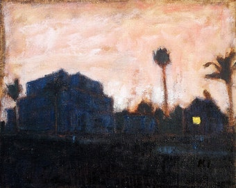 Sunset in Hillcrest - San Diego Oil Painting