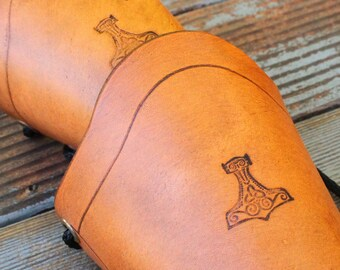 Pair of Leather Arm Cuffs