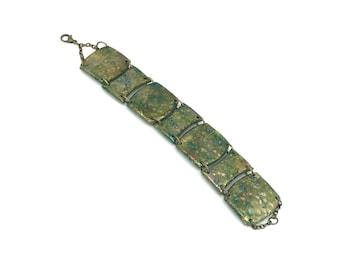 Polymer Clay Bracelet - Jewelry- Green - Shimmer