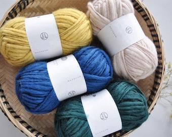 Thick and Thin Wool / Chunky Wool / Pure Wool / 100% Wool / 47g Bulky Yarn