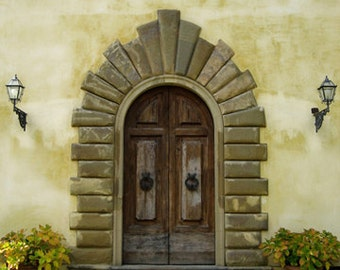 Villa Gamberaia Doorway - 5x7 photo - Metallic finish