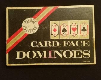 Vintage Karte Gesicht Dominosteine von Crisloid