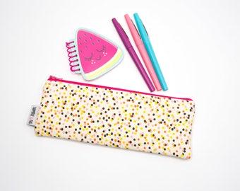 Confetti Pencil Case, Pencil Bag Organizer, Zipper Pencil Pouch, Zipper Pencil Case, Stocking Stuffers for Kids, Back to School Supplies