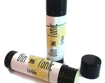 Gin and Tonic Lip Balm- Alcohol Lipbalm- Cocktail- Girls Night- Party- Wedding Favour- G and T