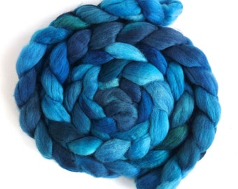 Quenched, Finn Wool Roving, Hand Painted Spinning or Felting Fiber