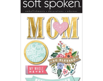 Heart Mom Stickers by Soft Spoken, Me & My Big Ideas Stickers