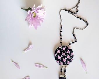 Hot air balloon necklace. Wooden Balloon Necklace