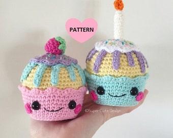 Cupcakes PDF Pattern, amigurumi, crochet