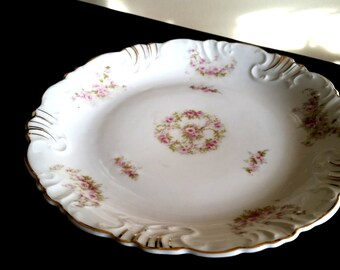 Z.S. & C Bavaria Dessert Plate/ Hand Painted Gold Gilt  Porzellanfabrik Zeh, Scherzer Co.