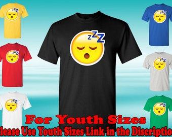 Sleeping Face Emoji T-Shirt, Social Media T-Shirt, Emoji Shirt