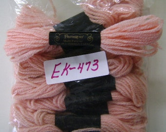 Yarn, Paragon, 100% Wool Crewel Needlepoint, Color #183 Melon, 8.8 Yard Skeins