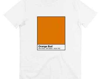 Shirt orange bud - weed - marijuana - kush - available in S, M, L, XL / / orange bud print men t-shirt sizes s, m, l xl