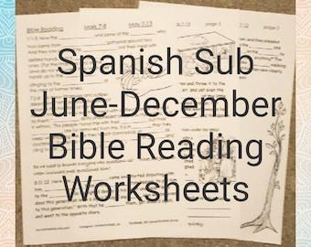 SPANISH Suscripción de 1 Año Ejercicios para niños JW de Lectura de la Biblia en ESPANOL Junio - Diciembre 2018
