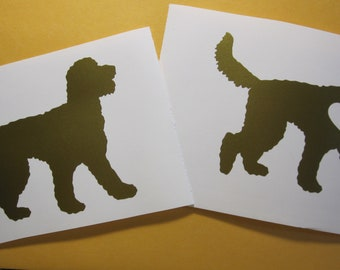 Goldendoodle Vinyl Decal / Sticker *Available in 20+ Colors* --- with OR without Heart --- dog silhouette, doodle, dood, labradoodle