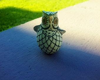 Zuni Pottery Owl Miniature Figurine Native American Zuni Pueblo Nation Southwest USA Hand Crafted