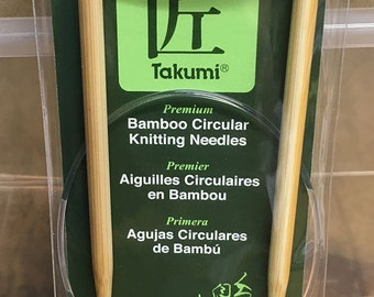 Size 7 US 16 Inch Clover Takumi Bamboo Fixed Circular Knitting Needles