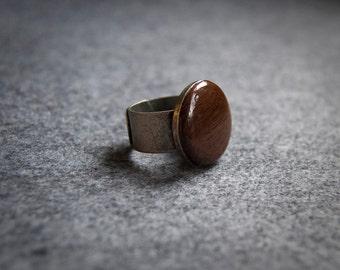Purpleheart Ring - Adjustable