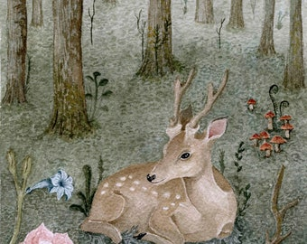 """Peace in the Forest 5.2x6.8""""  Print - Limited"""