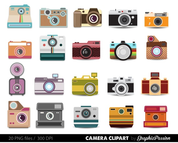 Camera Clipart Digital Photography Graphics Commercial Use for