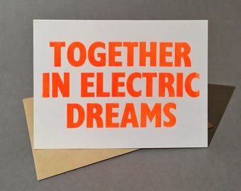 Valentine's card. Together in Electric Dreams