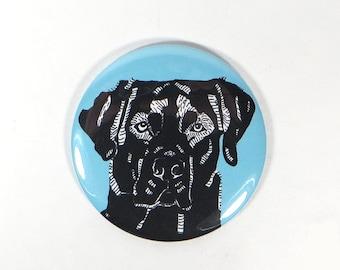 Black Lab gift - black lab magnet - labrador retriever portrait - dog portrait - dog breed illustrations - cute dog drawing magnet - kitchen