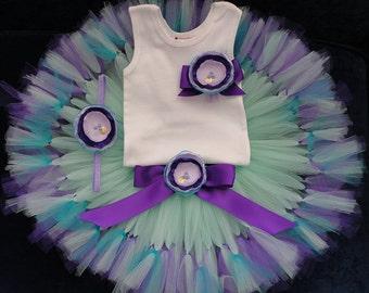 Teal Tutu Dress | Mermaid Birthday Dress