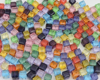 SWAROVSKI® Crystal Cubes, Article #5601, 6mm Square Beads, Twenty-Six(26) 6mm Cubes, FORTY-FOUR(44) Cents Per Bead!