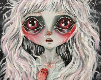 Nocturna - pop surrealism original painting