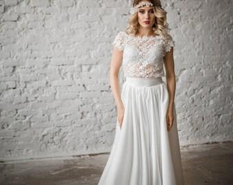 Wedding Dress ,  kit wedding . Open back, lace wedding dress Vintage Wedding Dress