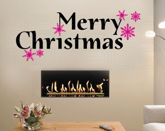 Wall Decal MERRY CHRISTMAS holiday wall decor by Decals Murals