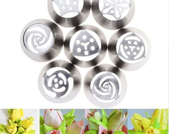 Russian Flower Nozzles Stainless Steel Icing Piping Nozzle Cupcake Rose Pastry DIY Cake Decorating Tips