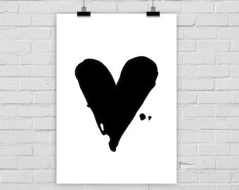 fine-art print poster BLACK HEART