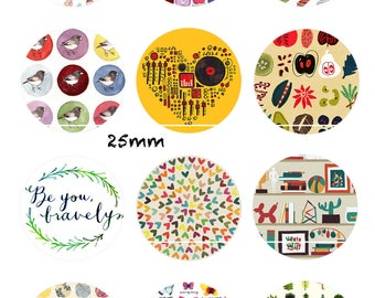CT31 Spring arrived 12 Digital Images/designs for 25/20/18/16/15/14/12/10/8 mm cabochon round/square/oval