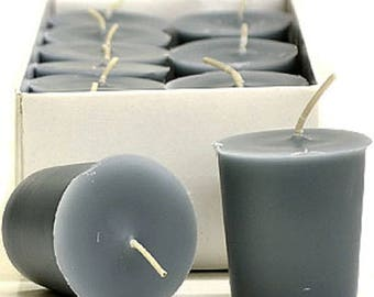 15 Hour Gray  Unscented Soy Votive Candles Pick A Pack