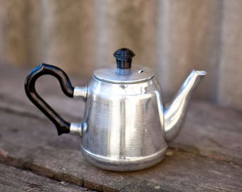Small metal teapot Russian teapot Kitchen home decor Vintage Soviet design Tea kettle Serving houseware Made in USSR