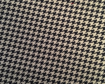 Michael Miller Navy Tiny Houndstooth Fabric