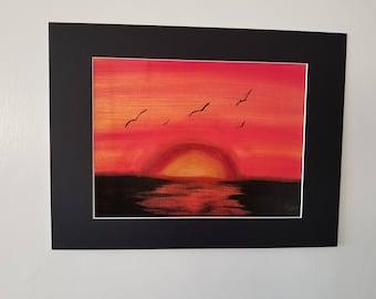 "Sunset Painting 16""x 12"""