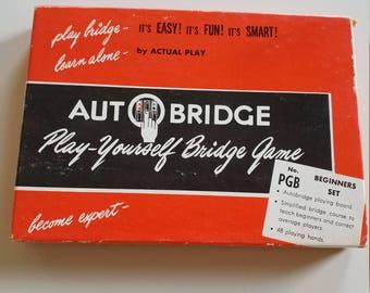 "Vintage Autobridge Set ""Teach yourself to play bridge"""