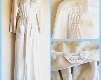 Kayser robe 1960s full length robe lingerie house coat sleepwear vintage pajamas