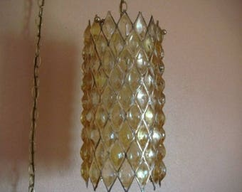 Swag Hanging Pendant Lamp by House of Mosaics Vintage Mid-Century Handcrafted in California 1960's