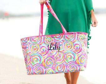 monogrammed tote, monogram ultimate tote, personalized tote, large utility tote, utility tote, beach bag, tailgate tote, pool bag, carry all