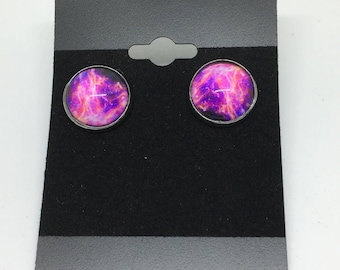Purple Lightning Earrings