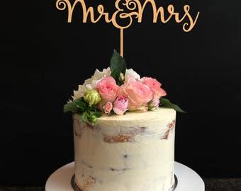 Rustic Wedding Cake Topper, Mr & Mrs cake toppers,Personalized Cake Topper, Custom Cake Topper for Wedding, Anniversary, Birthday