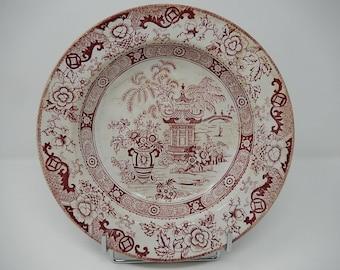 Earthenware Creil Montereau dish, China decor, free shipping