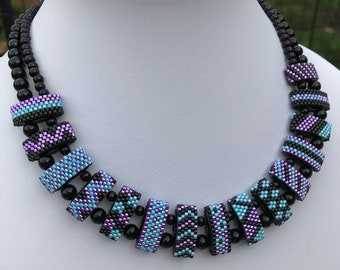 Seed Bead Multistrand Necklace