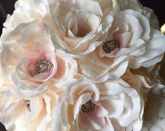 POMANDERS, Stunning Wedding Pomanders, Elegant Pale Blush Pink Wedding Pomanders, Kissing balls, Flower Balls, Wedding Decor