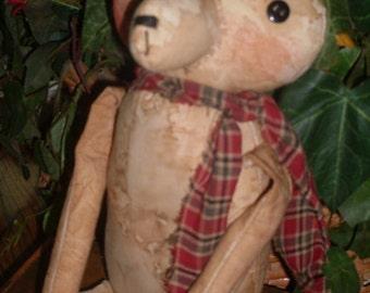 Primitive Cloth Doll PATTERN - Attic Bears - KCP159