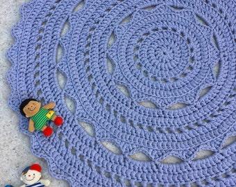 Crochet Doily Rug TShirt Yarn 100cm
