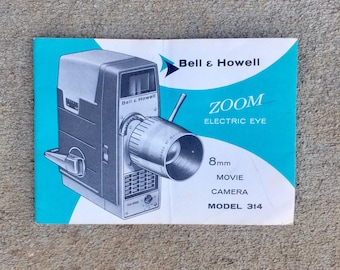 Vintage Bell Howell 8mm Movie Camera Manual
